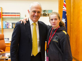 Student Ashleigh Edwards gets dream job & meets the PM image
